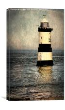 Penmon Trwyn Du Lighthouse Anglesey, Canvas Print