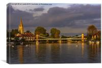 The Thames At Marlow , Canvas Print