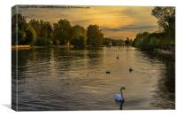 Thames Sunset, Canvas Print