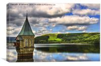 Pontsticill  Dam Valve Tower, Canvas Print