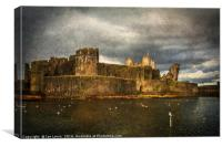 Storm Brewing Over Caerphilly Castle, Canvas Print