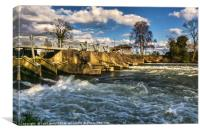 Day's Weir at Little Wittenham, Canvas Print
