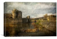 Inner Moat At Caerphilly Castle, Canvas Print