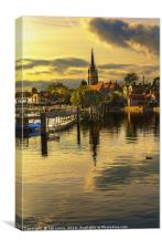 The River Thames At Marlow, Canvas Print