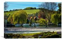 Across The Thames To Streatley, Canvas Print