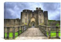 Caerphilly Castle Gatehouse, Canvas Print