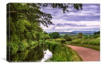 The Canal at Brecon, Canvas Print