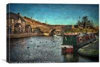 Brecon Canal Basin in Winter, Canvas Print