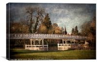 Whitchurch on Thames Toll Bridge, Canvas Print