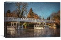The Toll Bridge At Whitchurch, Canvas Print