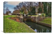 Tyle Mill Lock, Canvas Print