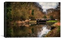 Above Sulhamstead Lock On The K&A, Canvas Print
