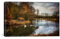 Winter Scene On The Kennet And Avon, Canvas Print
