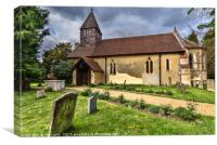 The Church of St Laurence in Tidmarsh, Canvas Print