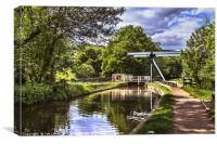 The Canal Bridge at Talybont on Usk, Canvas Print