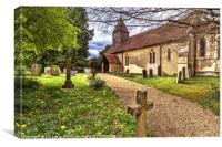 The Church At Tidmarsh in Berkshire, Canvas Print