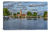 Marlow on Thames, Canvas Print