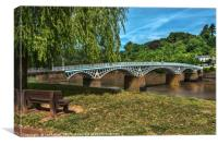 A Riverside Seat At Chepstow, Canvas Print