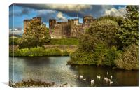 Caerphilly Castle Western Towers, Canvas Print