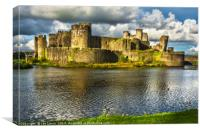Caerphilly Castle Walls, Canvas Print