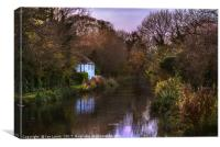Autumn Afternoon On The Kennet, Canvas Print