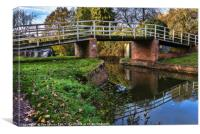 Station Road Footbridge Hungerford, Canvas Print