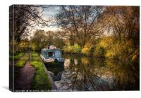An Autumn Afternoon At Hungerford, Canvas Print
