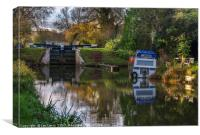 Autumn Colours At Hungerford Lock, Canvas Print