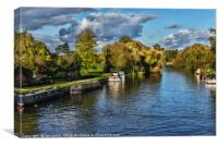 The River Thames at Wallingford, Canvas Print