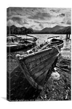 Derwentwater Rowing Boat, Canvas Print