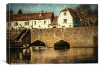 The Bridge At Abingdon, Canvas Print