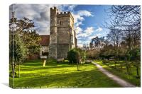 The Church At Cookham, Canvas Print