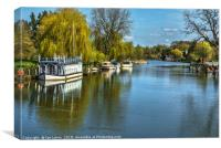 The River Thames At Streatley, Canvas Print