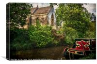 Church By The Oxford Canal, Canvas Print