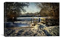 A Snowy Day In Tidmarsh, Canvas Print