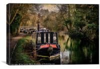 Moored Narrowboats At Newbury, Canvas Print