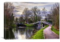 Footbridge By The Lock, Canvas Print