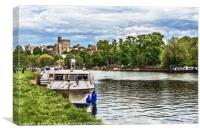 Over The Thames To Windsor, Canvas Print