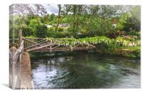 A Bridge Over The Itchen, Canvas Print