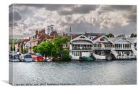 Boathouses At Henley on Thames, Canvas Print