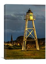 East Cote Light Tower Silloth, Canvas Print