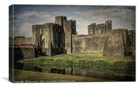 The Gatehouse At Caerphilly Castle, Canvas Print
