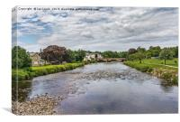 River Derwent Flowing Through Cockermouth, Canvas Print