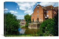 The Abbey Mill At Tewkebury, Canvas Print
