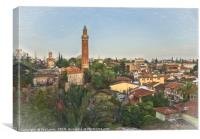 The Rooftops Of Antalya, Canvas Print