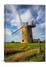 The Windmill At Great Haseley, Canvas Print