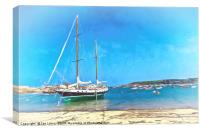 Anchored at the Scillies, Canvas Print