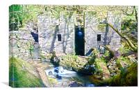Gunpowder mill in the woods, Canvas Print