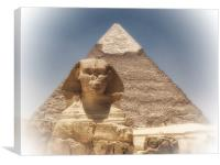 Sphinx and Pyramid, Canvas Print