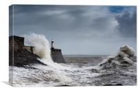 Porthcawl Storm, Canvas Print